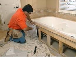 How to remove a bathtub Water Stains Claw Foot Tub Installation Surround Demolition Diy Network Claw Foot Tub Installation Surround Demolition Howtos Diy