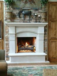 fireplace mantel san go c2401 cast stone surround with stacked stone for living room in cast fireplace mantel