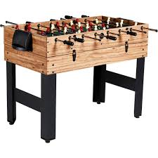 Miniature Wooden Foosball Table Game MD Sports 10000 Inch 10000In100 Combo Game Table 10000 Games with Billiards 97