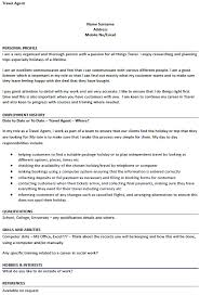 Examples Of Hobbies And Interests For Job Application Travel Agent Cv Example For Job Applications Lettercv Com