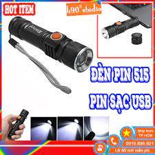 🔥 GIÁ SỈ 🔥 Đèn pin siêu sáng cổng sạc USB 515 đèn pha led cầm tay - Đèn