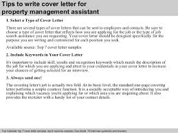 Cover Letter For Assistant Property Manager Property Management Assistant Cover Letter