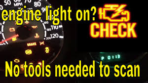 Dodge Dart Check Engine Light Reset How To Scan Or Check Why The Engine Light Is On Without A Scanner Chrysler