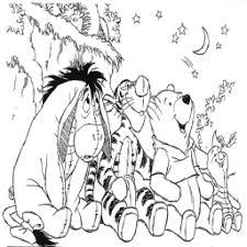 Kleurplaat Winnie De Pooh Sterren Kijken Kleurplaatarchiefnl