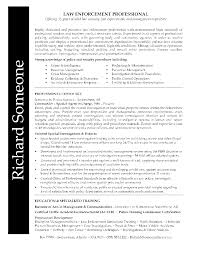 Law Enforcement Professional Resume Richard Had A Lengthy And