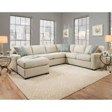 karissa fabric sectional  off white