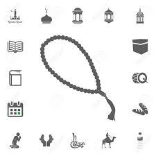 Muslim Rosary Beads Icon Ramadan Kareem Eid Mubarak Vector