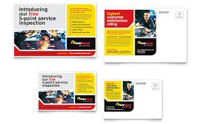 Auto Repair Flyer Auto Repair Postcard Template Word Publisher