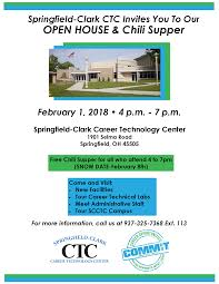 chili supper flyer open house and chili supper springfield clark career technology center