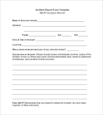 Training Outline Template Word New Incident Report Template 32 Free ...