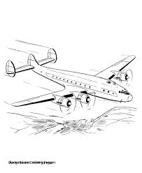 Airplane Coloring Pages Free Jumppartyorg