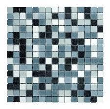 misty black grey mix mosaic tile