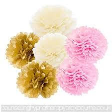 Make Tissue Paper Flower Balls Daily Mall Diy Art Hanging Tissue Paper Flower 12pcs 20cm 25cm