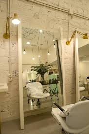 beauty salon lighting. our friends at sube used plumen bulbs to great effect in their interior design of salon beauty lighting