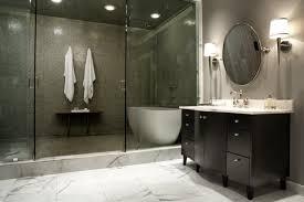 bathroom design with glass shower