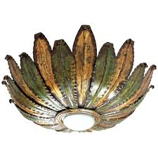 light fixture in spanish unusual gilt iron and green sunburst ceiling light fixture for light