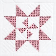 Jack Dempsey Needle Art Star Pinwheel Quilt Blocks - Stamped Cross ... & Star Pinwheel Quilt Blocks - Stamped Cross Stitch Kit Adamdwight.com