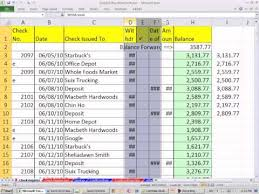 How To Make A Checkbook Register In Excel Excel 2010 Business Math 40 Create Checkbook Register In Excel Using If Function