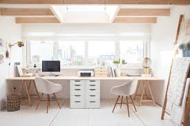 home office desk for two. Minimalist 36 Inspirational Home Office Workspaces That Feature 2 Person Desks Two Desk For