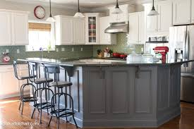 painted kitchen islandsPainted Kitchen Cabinet Ideas and Kitchen Makeover Reveal  The