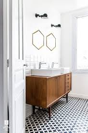 black and white vanity. Modren And Black And White Bathroom With Wood Sink Vanity For Black And White Vanity