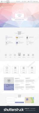one page website template responsive one page website template lowpolygon stock vector