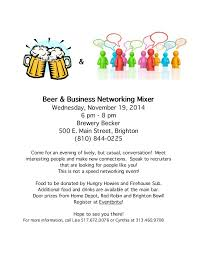 Beer And Business Networking Mixer Flyer