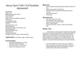 Snow Kite Wind Chart Aeros Gyro Ii 6 0 9 5 Parafoile Depowered Materials