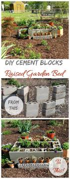 garden blocks. This Cement Block Raised Garden Bed Is Simple To Make And Turns Trash Into Treasure. Blocks