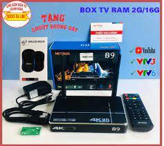 Chính Hãng] TV BOX NETBOX B9 RAM 2G/16GB + Tặng Chuột Không Dây Netbox,  Lướt Youtube cực mượt, bộ ứng dụng đa dạng, Xem ứng dụng K+, FPT vô tư
