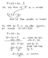 some key topics that involve solving formula equations