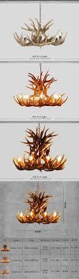 Us 18452 32 Offeuropa Retro Anhänger Lampe Kerze Geweih Kronleuchter Amerikanischen Harz Deer Horn Lichter Dekoration Lampe E14 110 240 V In
