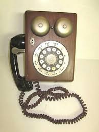 western electric vintage touch tone phone oak wood wall phone parts repair