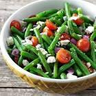 basil and balsamic green bean salad