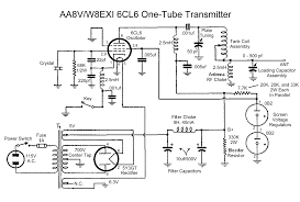 the aa8v w8exi 6cl6 one tube transmitter schematic diagrams and Schematic Circuit Diagram click here for a high resolution schematic schematic circuit diagram iphone