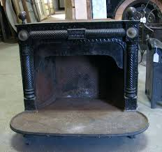 cast iron fireplace reflector architectural salvage of south antique with cast iron fireplace doors regarding inspire