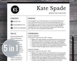 Professional Cv Template Word Download Resume Template Professional Creative Resume Instant Download Etsy