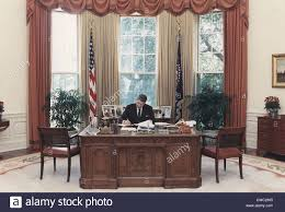 oval office furniture. President Reagan Working At His Desk In The Oval Office. July 15 1988. PO-USP-ReaganNA-12-0101M Office Furniture F