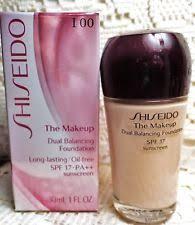 shiseido the makeup dual balancing foundation i00 spf17 pa 1 0 oz boxed