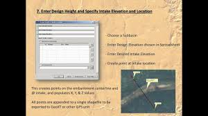 Sediment Basin Design Spreadsheet Lidar Based Tools For Design Of Water And Sediment Control Basins In Arcgis