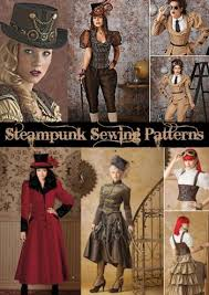 Steampunk Patterns Gorgeous Steampunk Sewing Patterns Dresses Coats Plus Sizes Men's Patterns