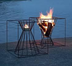 uniflame fire pit. Metal Outdoor Fireplace Uniflame Fire Pit Standing Logs Lava Rock