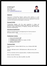Sample Job Application Resume Resume for It Job Application Krida 88