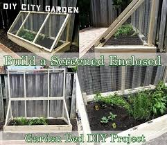 build a screened enclosed garden bed diy project