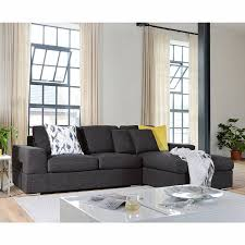 dwell verona right hand corner sofa bed with storage charcoal