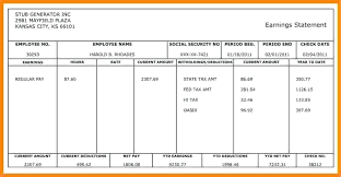 Pay Stub Samples Templates Independent Contractor Pay Stub Sample Template Payroll Generator
