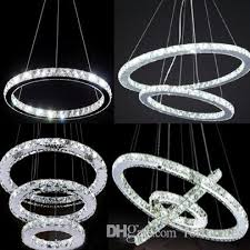 hot diamond ring led crystal chandelier light modern chandelier circles 100 guarantee modern pendants hanging light shades from fortunates
