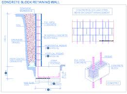 concrete block retaining wall