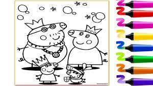 Coloriage Peppa Pig Sa Famille Coloriage Magique Dessin Facile