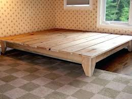platform bed frame plans free diy with storage design